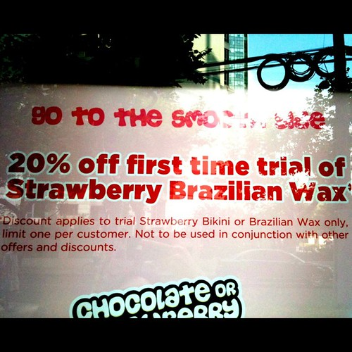 20% off first time trial of strawberry Brazilian wax , shanghai , china