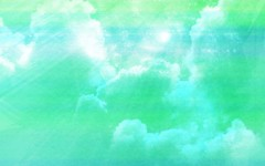 Free Abstract Cloudy Sky  Aqua Green Background