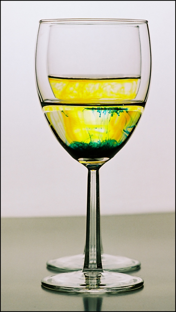 Wine Glasses With Water And Food Coloring (195-365)