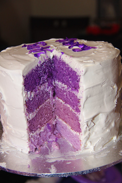 Purple Layer cake | Flickr - Photo Sharing!