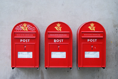 A trio of post boxes
