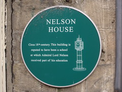 Photo of Horatio Nelson and Nelson House green plaque