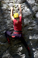 free solo climbing(0.0), bouldering(0.0), adventure(1.0), individual sports(1.0), sports(1.0), recreation(1.0), outdoor recreation(1.0), rock climbing(1.0), sport climbing(1.0), extreme sport(1.0), climbing(1.0),