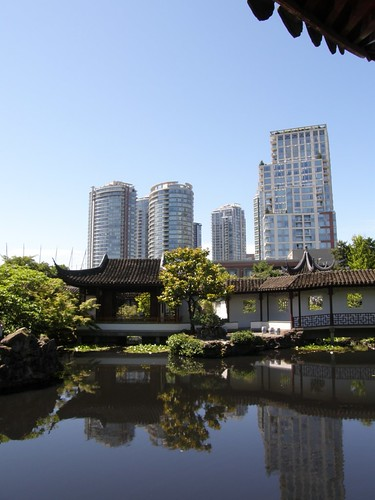 Vancouver as seen from Chinatown Garden/Park