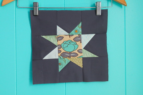 wonky star block for nighttime quilt