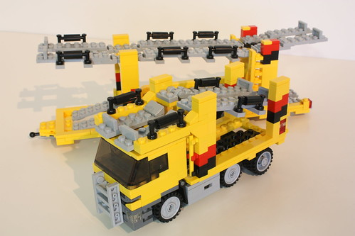 mercedes actros car transporter lego town eurobricks. Black Bedroom Furniture Sets. Home Design Ideas