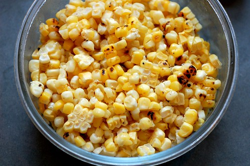 Leftover grilled corn by Eve Fox, Garden of Eating blog, copyright 2013