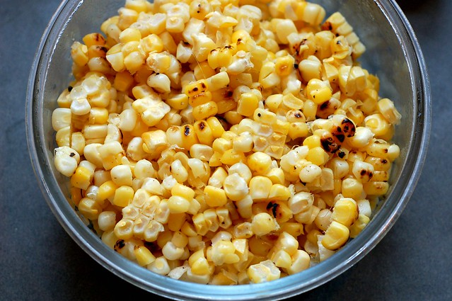 Leftover grilled corn by Eve Fox, Garden of Eating blog, copyright 2011