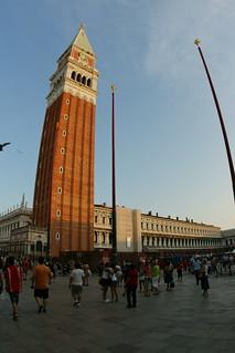Image of St Mark's Campanile near Venice. venice italy color st square amazing scenery san historic marks campanile marco