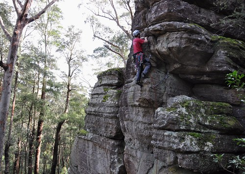 Climbing Nowra - The Dark Side - New Route.