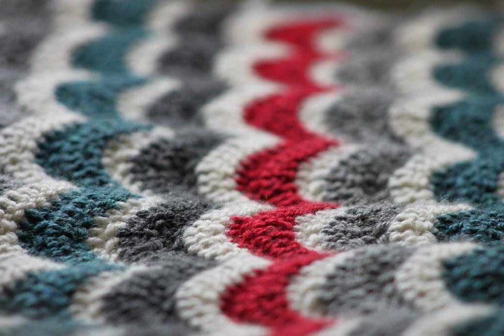 Bean's Ripple Blanket WIP