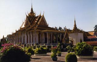 Image of Silver Pagoda. pagoda cambodia 1997 phnompenh silverpagoda