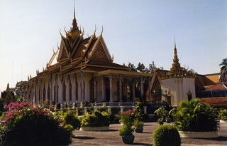 Silver Pagoda görüntü. pagoda cambodia 1997 phnompenh silverpagoda
