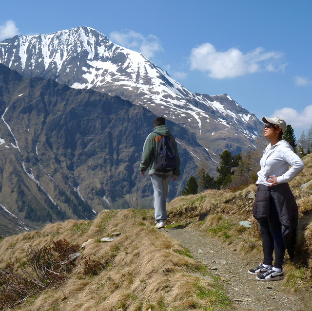 Kanitha enjoys the vista in Hohe Tauern National Park