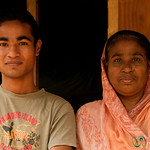 Mother and Son in Village Outside Srimongal, Bangladesh
