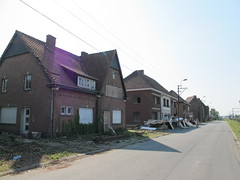 Condemned houses in Drongen