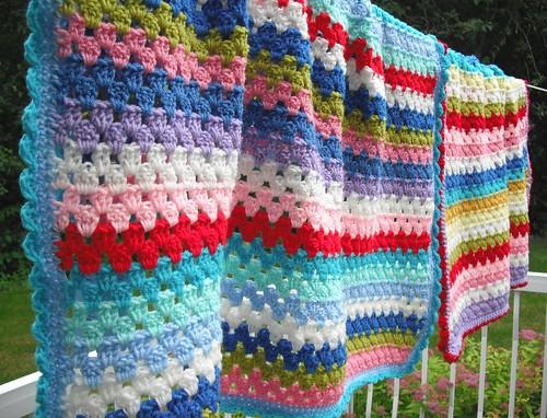 Crochet Granny Stripe Baby Blanket Pattern : Crochet Blanket Stripes images