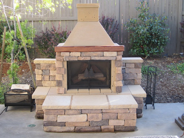 Perfect Outdoor Fireplace Bbq Edition Tan With Custom Stone Finish Flickr Photo Sharing