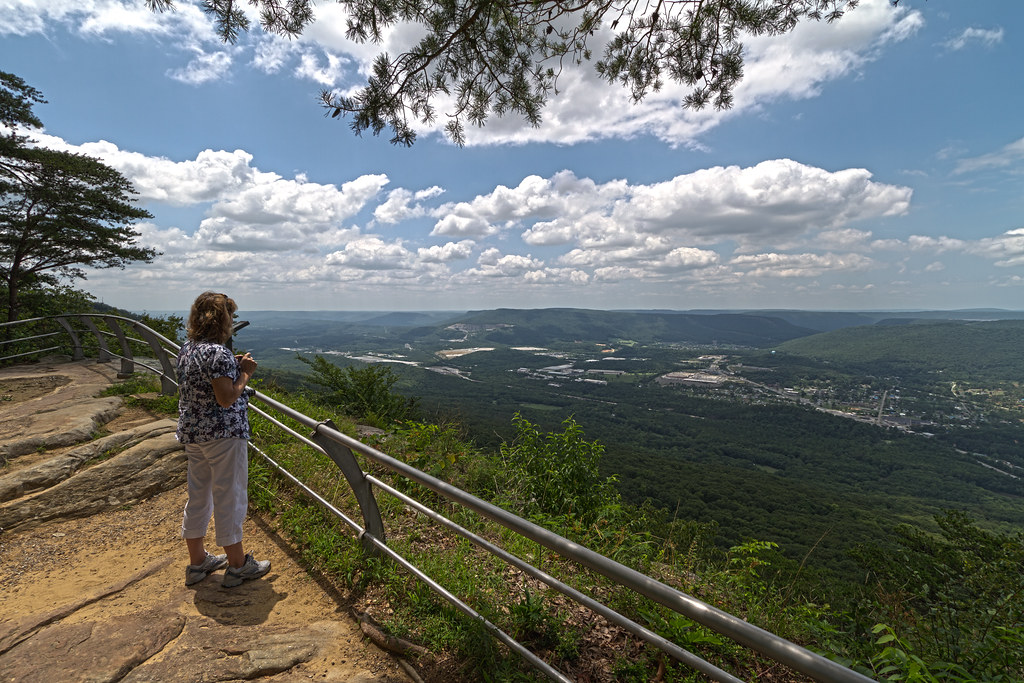 Views of Chattanooga - Point Park East View Over Lookout Valley