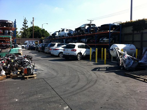 BRAND NEW CARS waiting to be dismantled
