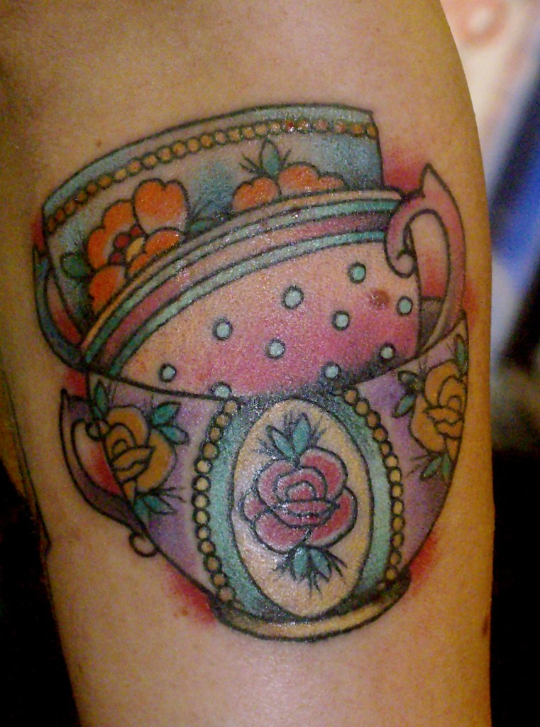 stacked tea cups tattoo - a photo on Flickriver
