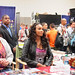 Vivica Fox talks to fans at Comic Con