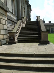 Houghton Hall - West Front - West Steps - No Entry