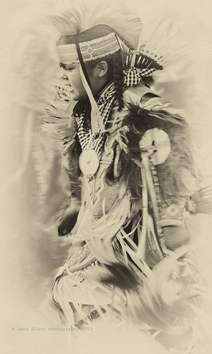Young pow wow dancer