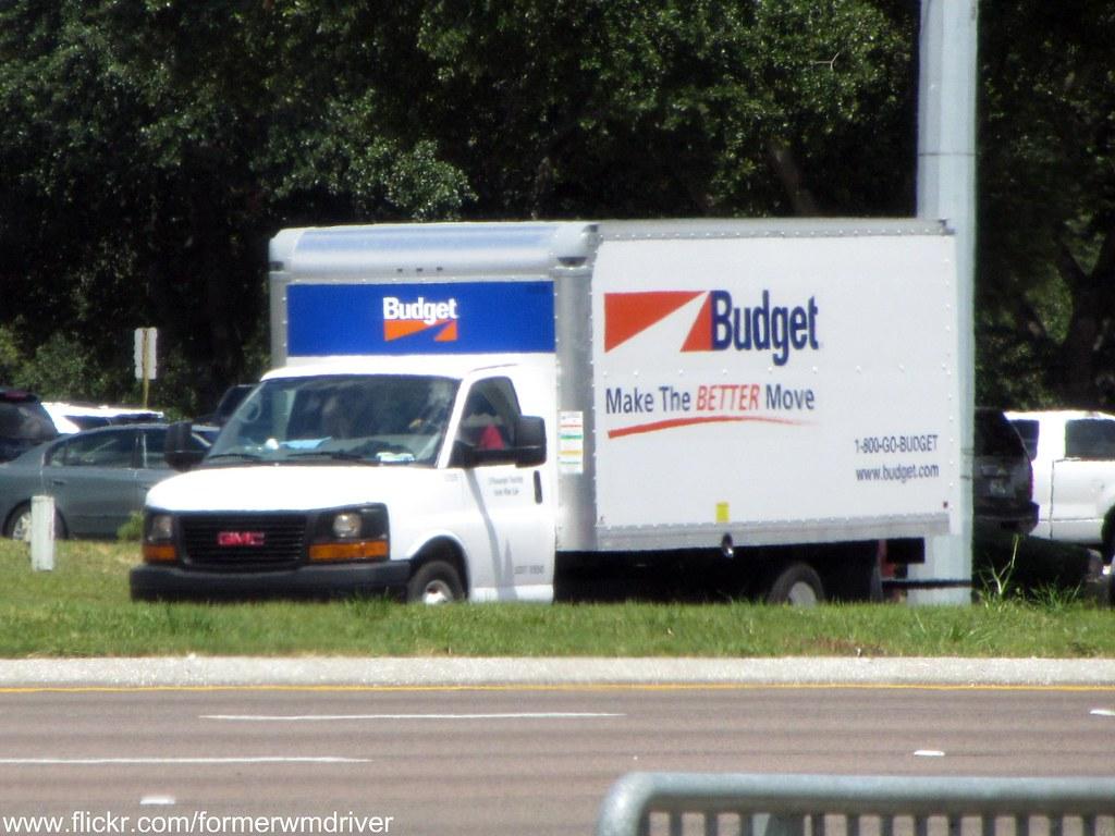 Budget rental gmc box truck