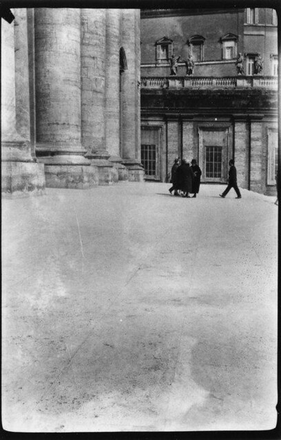 Pedestrians in Square, St. Peter's, Rome, Italy, 1927, by Walker Evans
