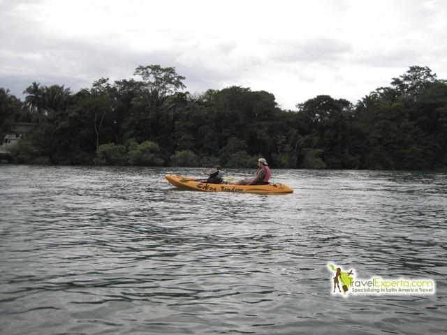kayak at Lake Izabal in Guatemala