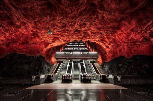 beautiful stockholm metro stations