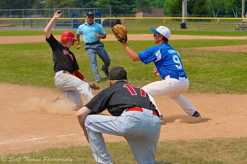 newyork rome sports boys youth coach nikon baseball action slide dirt tournament players umpire u18 under18 d700 afvrzoomnikkor80400mmf4556ded yourphototips scottthomasphotography cnythunderclassic cnynationals larrydelutisfield ottawanepeancanadians