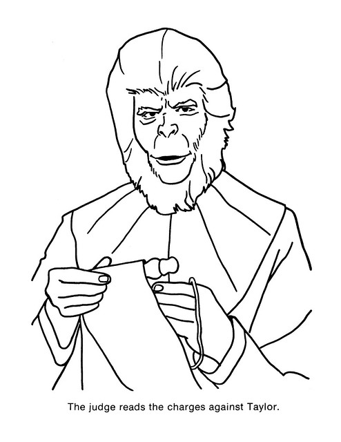 Planet of the Apes Coloring Book 0100051