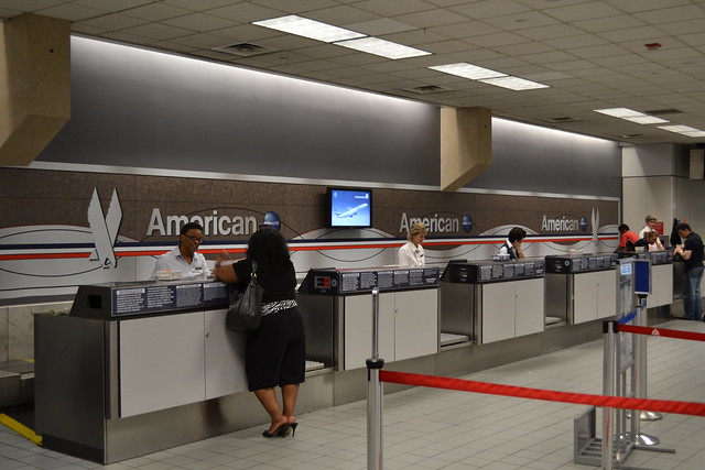 American Airlines Ticket Counter At Dfw Terminal A