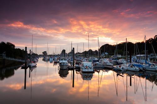 sunset marina sonnenuntergang bremen weser lesum sportboothafen