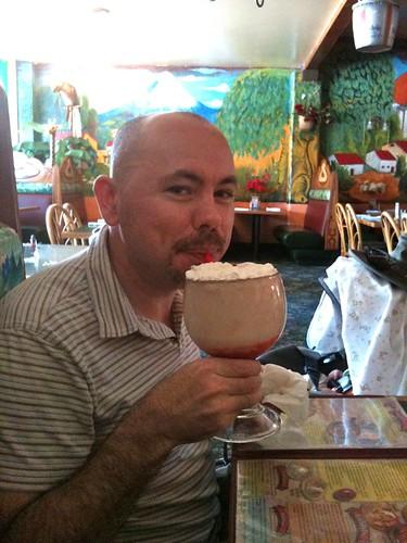 Jeff & a giant pina colada