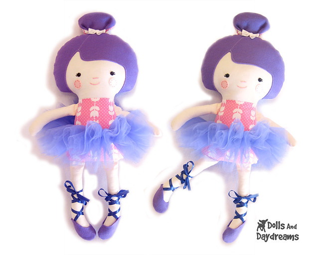 Ballerina Doll Ballet Dancer Sewing Pattern Dress Up Tutu Ballet Shoes