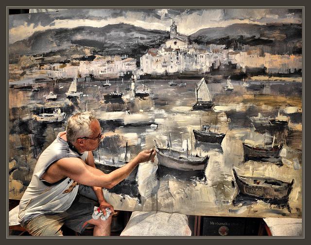 Cadaques pintores pinturas pintura arte cuadros ernest - Pintores en girona ...
