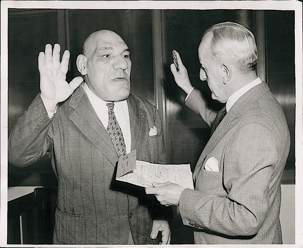 Maurice Tillet, 1946 U.S. citizen