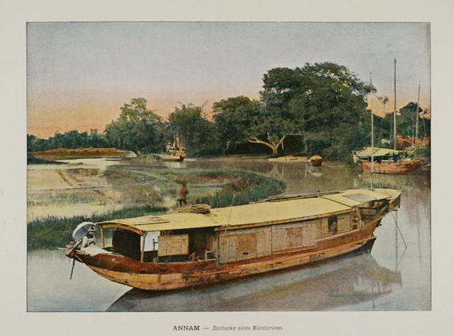 1898 ANNAM Vietnam INDOCHINA Mandarin's junk