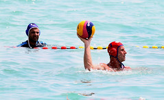 individual sports(0.0), swimming(0.0), sea(0.0), swimmer(0.0), water & ball sports(1.0), water polo(1.0), sports(1.0), recreation(1.0), outdoor recreation(1.0), leisure(1.0), water sport(1.0),