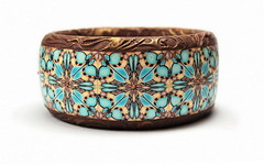 bangle orange and turquoise