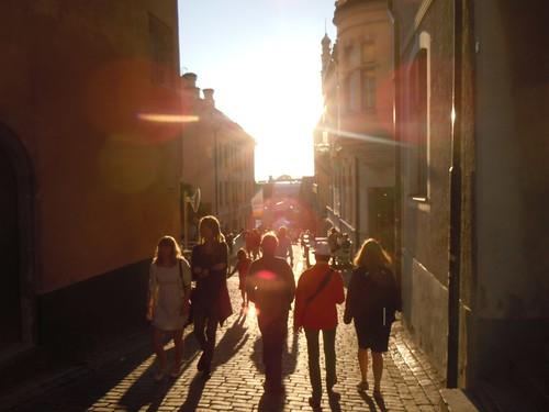 Vacker kväll i Visby