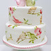 Bird and rose cake