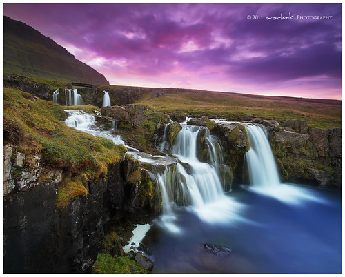 sunset river landscape flow waterfall iceland exposure photograph dee blend snaefellsnes everlook stunningphotogpin