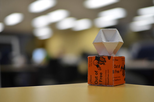 Photo:Business card origami