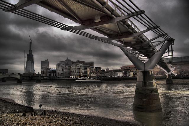 Millenium Bridge over the River Thames London (Explored!)