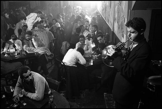 David Amram at the Five Spot Cafe, New York, 1957, by Burt Glinn