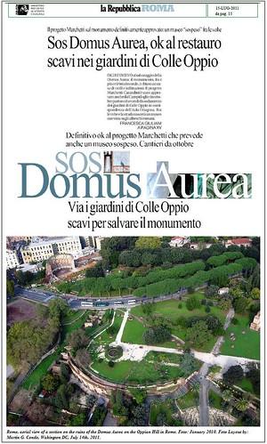 Il progetto domus aurea per salvare il sito via i for Sito la repubblica